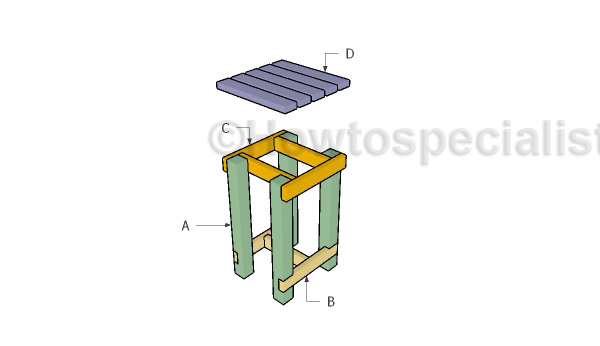 Building a rain barrel stand