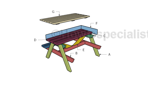 Building a sandbox picnic table