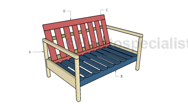 Building an outdoor sofa