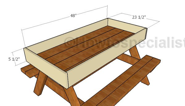 Building a children's picnic table