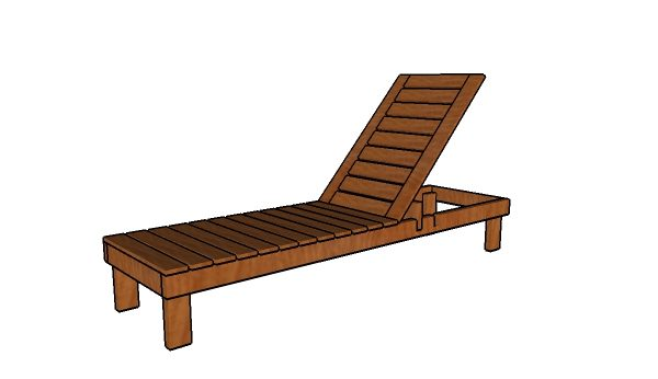 Beach chair plans howtospecialist how to build step for Build a chaise lounge
