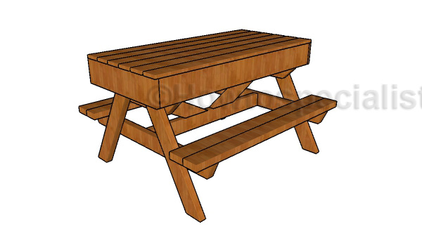 Sandbox picnic table plans