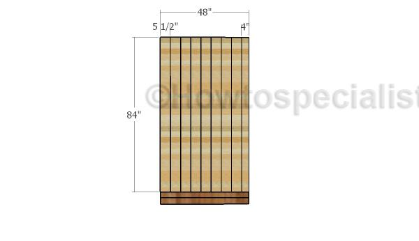 Side walls slats