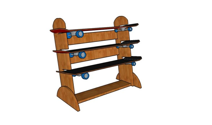 Skateboard Rack Plans Howtospecialist How To Build
