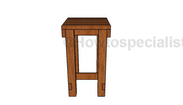 Wood rain barrel stand plans