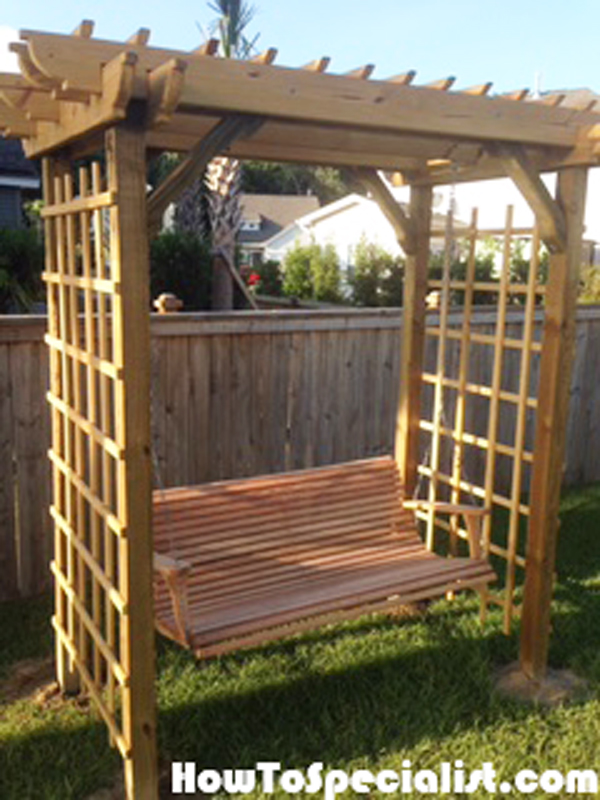 DIY Arbor Swing | HowToSpecialist - How to Build, Step by ...