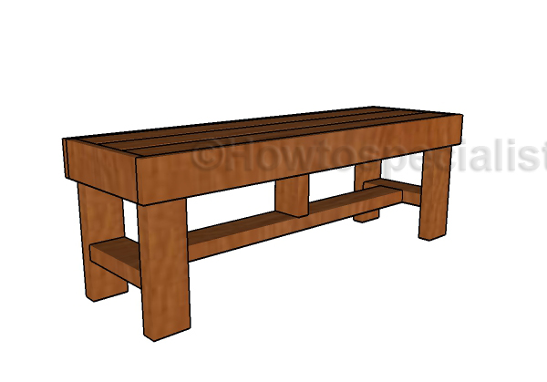 2x4 easy to build bench plans howtospecialist how to for 2x4 stool plans