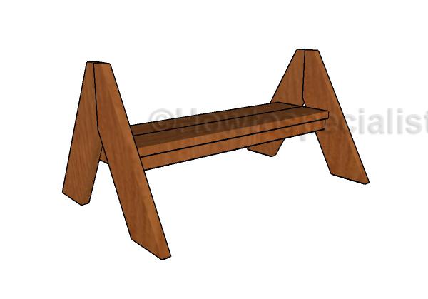 a-frame-bench-plans
