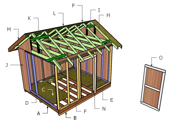 10x12 Gable Shed Roof Plans Howtospecialist How To Build Step