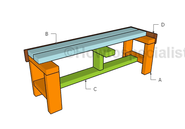 2x4 easy to build bench plans howtospecialist how to build step