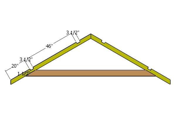 10x12 gable shed roof plans howtospecialist how to for How to order roof trusses