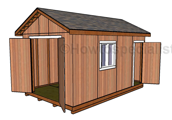 10x16 Shed Plans – Garden Shed Plans 10 X 16
