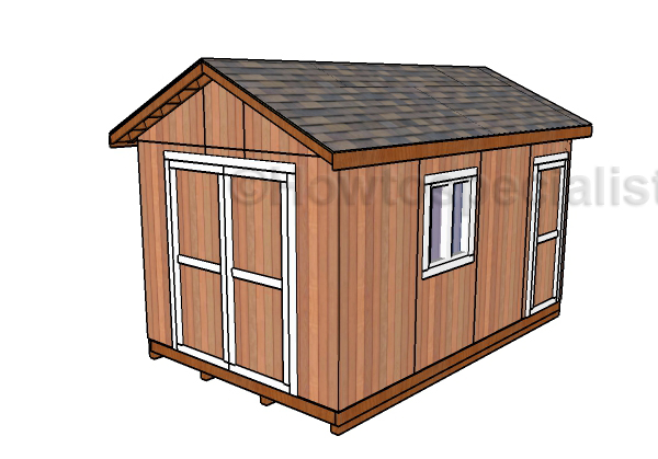 10x16 Gable Shed Roof Plans Howtospecialist How To Build Step