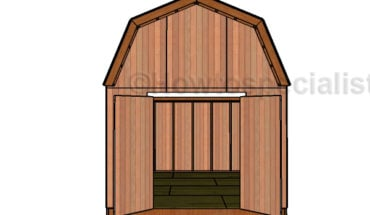 12x16 Gambrel Shed Plans - Interior