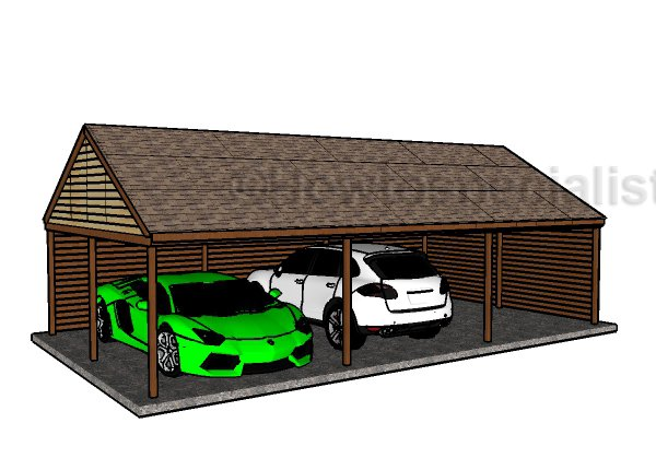 Triple carport plans howtospecialist how to build for 4 car carport plans