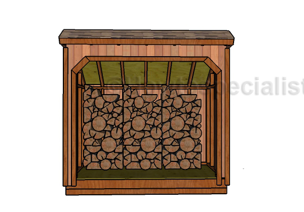 4x8-firewood-shed-plans-front-view