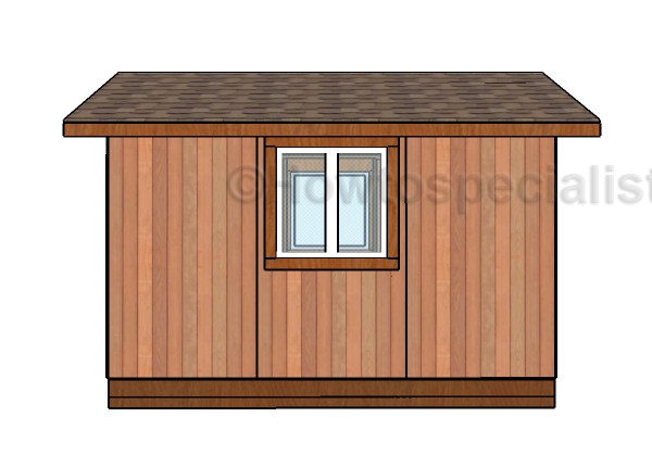 8x12 Gable Shed Plans - Side view