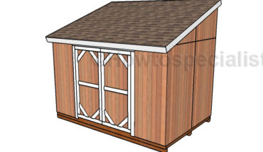 8x12 Lean to Shed Plans
