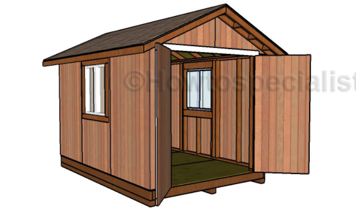 Shed Plans 8 X 12 Diy Woodworking
