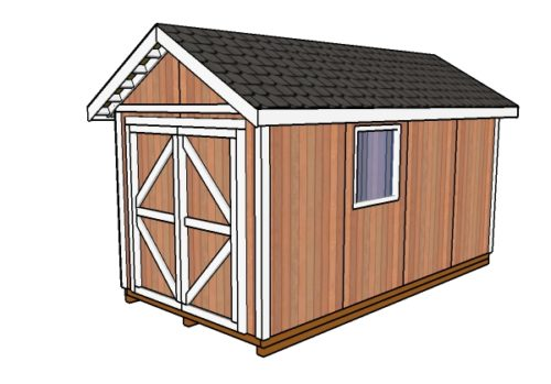 8x16 Gable Shed Plans