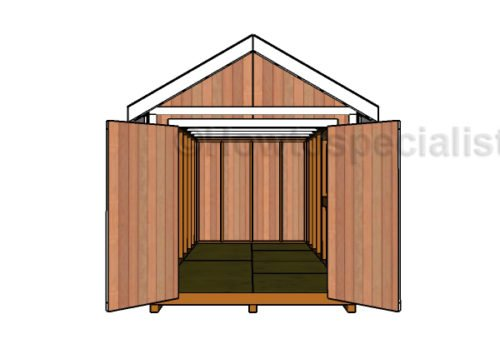 Double Doors Plans For The 8x16 Shed Howtospecialist