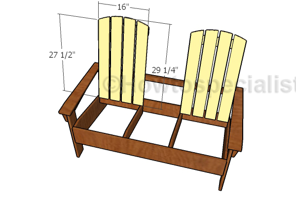 Attaching the backrest slats