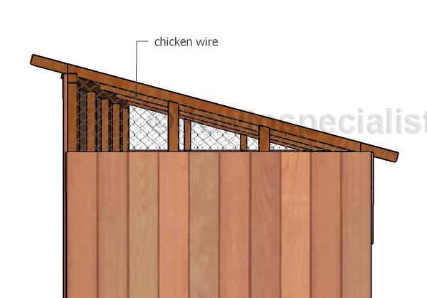 Attaching the chicken wire