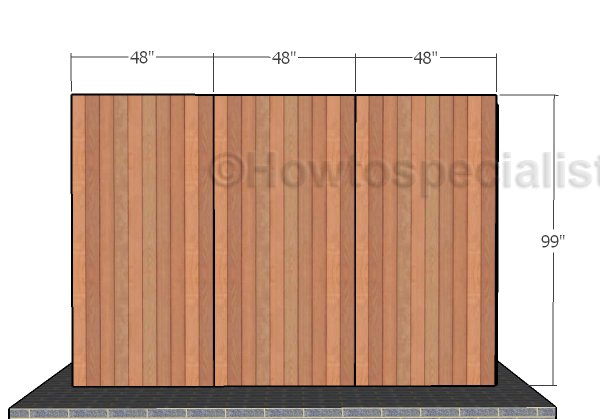 Back and Front Wall - Siding