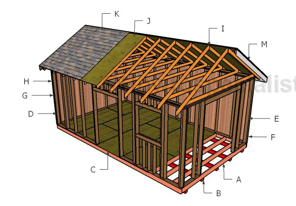 12x20 Gable Roof Plans Howtospecialist How To Build Step By Step Diy Plans