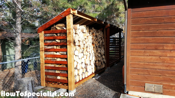 Diy 2 Cord Wood Shed Howtospecialist How To Build Step