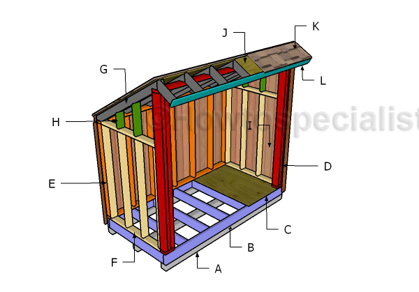 4×8 Firewood Storage Shed U2013 Free Plans