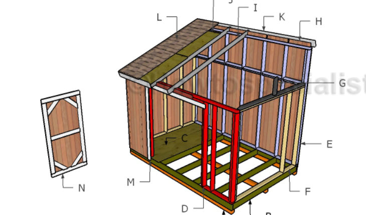 How to build a lean to shed roof 8x12 lean to shed roof for Lean to house plans