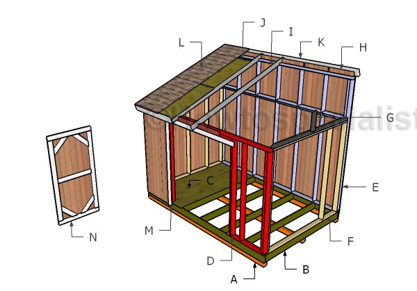 16x16 Gable Shed Plans Howtospecialist How To Build Step By
