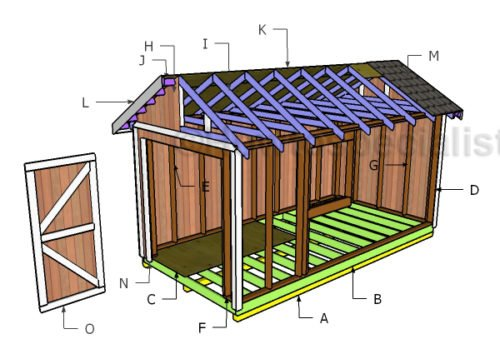 8x16 Gable Shed Roof Plans Howtospecialist How To Build Step