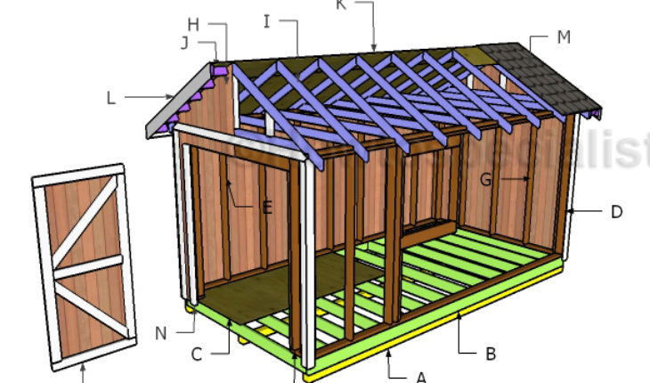 8x16 Gable Shed Roof Plans | HowToSpecialist - How to ...