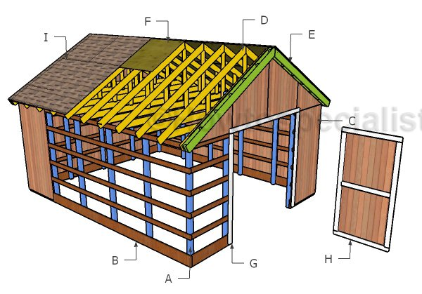 16x20 Pole Barn Roof Plans