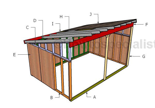 12x18 Run In Shed Plans Howtospecialist How To Build