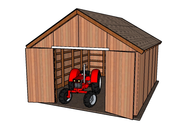 Building a wood pole barn