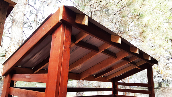 Diy 2 Cord Wood Shed Howtospecialist How To Build