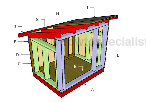 Large Dog House Roof Plans Howtospecialist How To Build Step