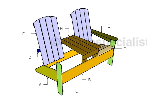 Building double adirondack chairs