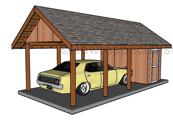Diy Carport Plans : Carport with storage plans howtospecialist how to