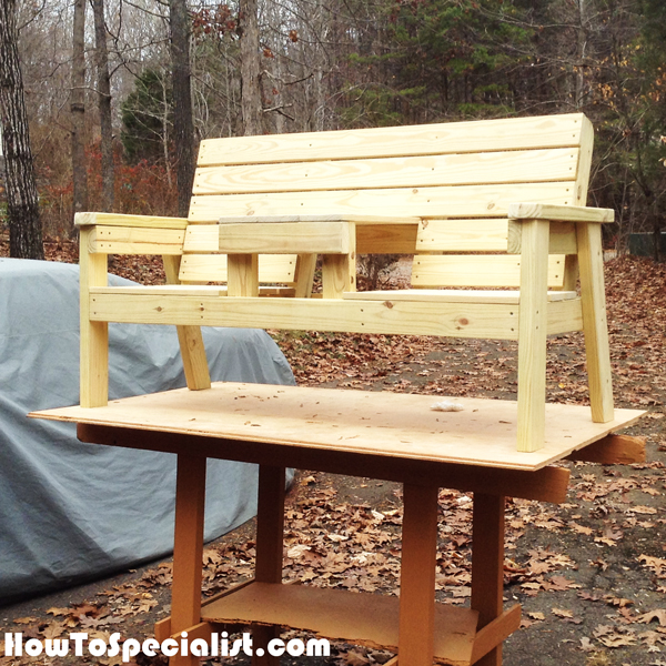 DIY-Double-Chair-Bench-with-Table-Plans
