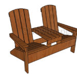 Double Adirondack Chair with Table Plans