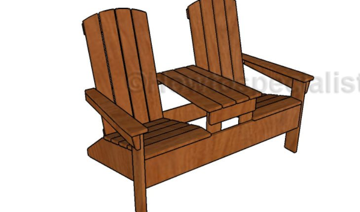 Double adirondack chair bench plans