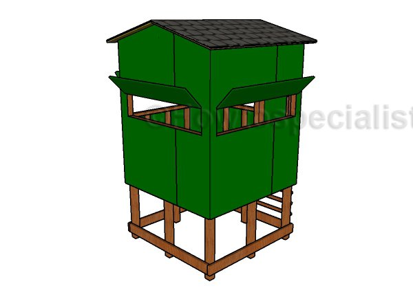 Elevated Deer Blind Plans - Back view