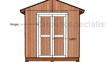 10x12 shed door plans howtospecialist how to build for Double door shed plans