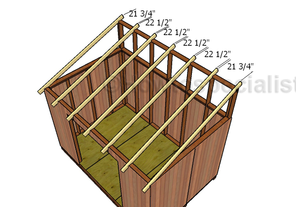 8x12 Lean To Shed Roof Plans Howtospecialist How Build