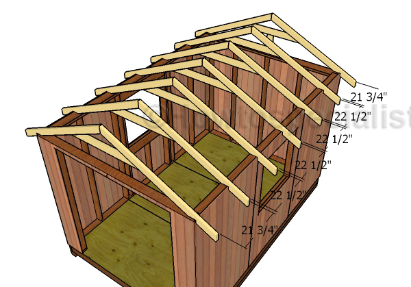 8x12 Gable Shed Roof Plans Howtospecialist How To Build Step By Step Diy Plans