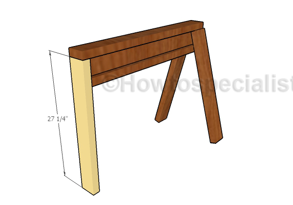 Fitting the vertical leg